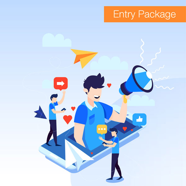 Social media entry package